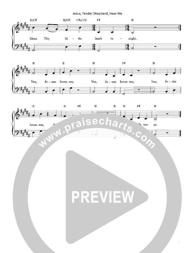 Jesus Tender Shepherd Hear Me Piano Sheet (Keith & Kristyn Getty)