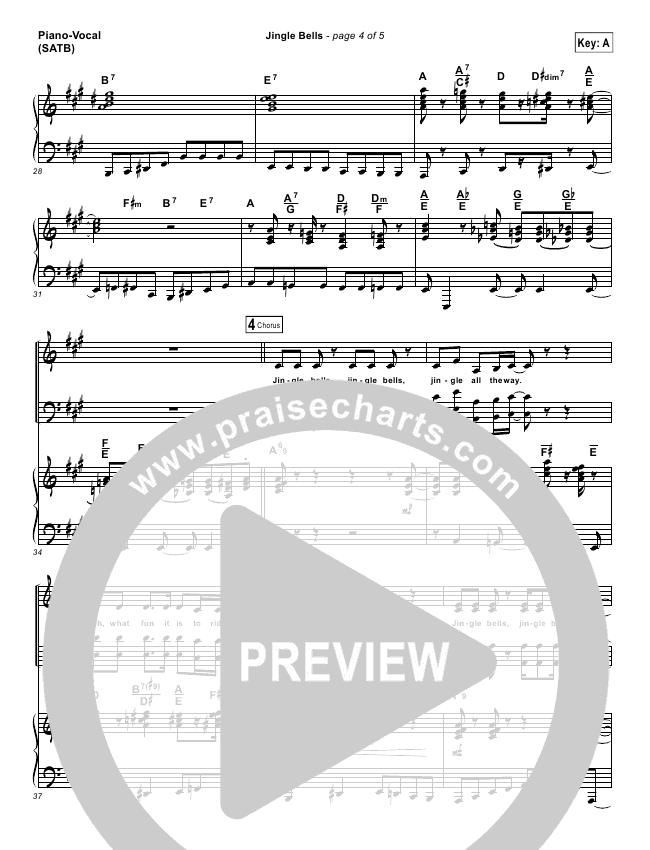 Jingle Bells Lead Sheet Pianovocal Lauren Daigle Praisecharts