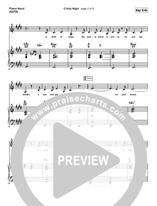 O Holy Night Piano/Vocal (SATB) (Lauren Daigle)