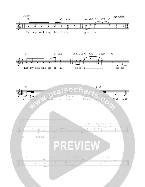 Let My Soul Sing (Gloria) Lead & Piano/Vocal (Michael Farren)