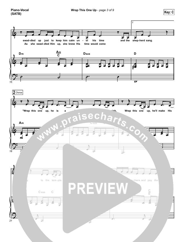 Wrap This One Up Piano/Vocal (SATB) (Christy Nockels)