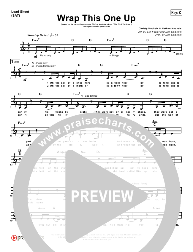 Wrap This One Up Piano/Vocal Pack (Christy Nockels)