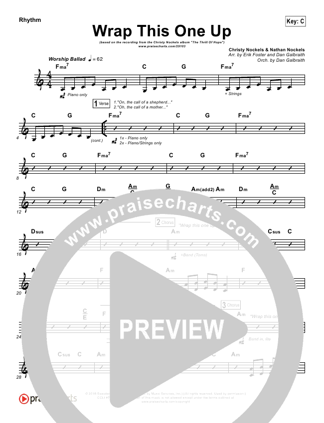 Wrap This One Up Rhythm Chart (Christy Nockels)