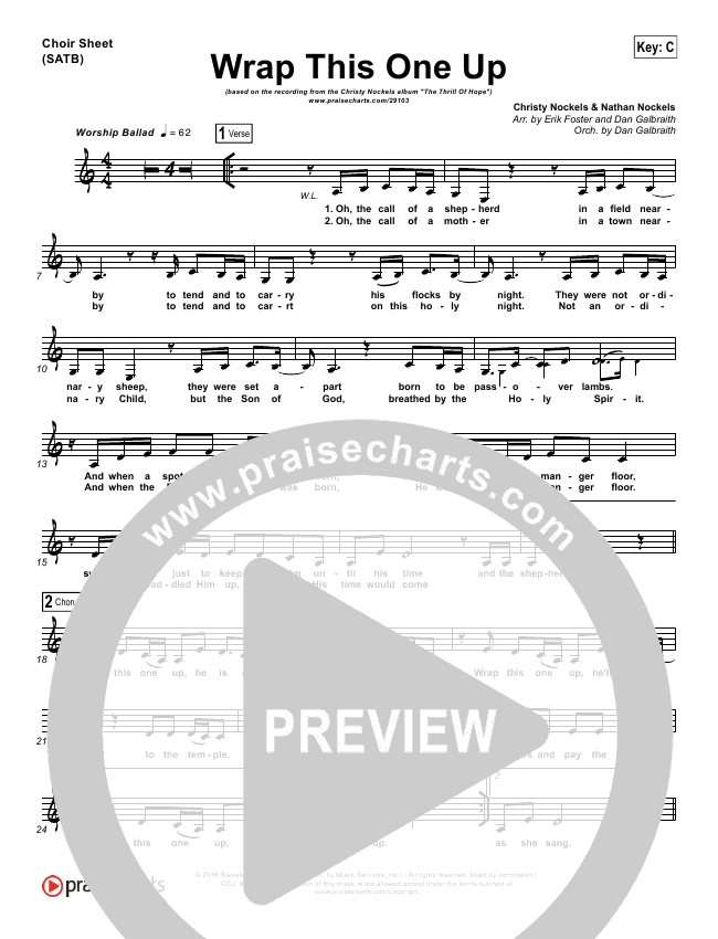 Wrap This One Up Choir Sheet (SATB) (Christy Nockels)