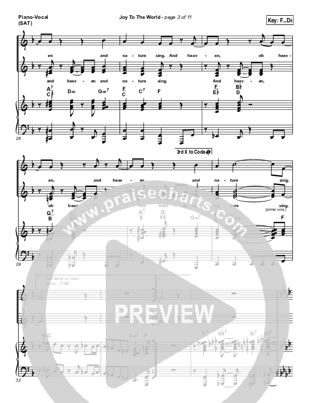 Joy To The World Piano/Vocal (SATB) (Micah Stampley / Sheri Jones-Moffet)
