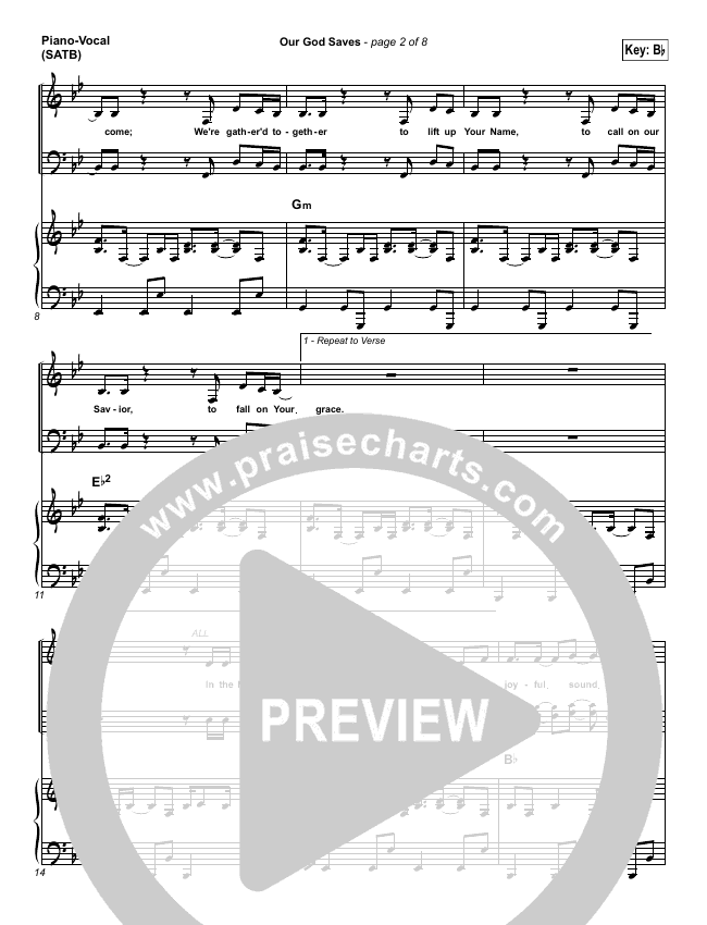 Our God Saves Piano/Vocal (SATB) (Paul Baloche)