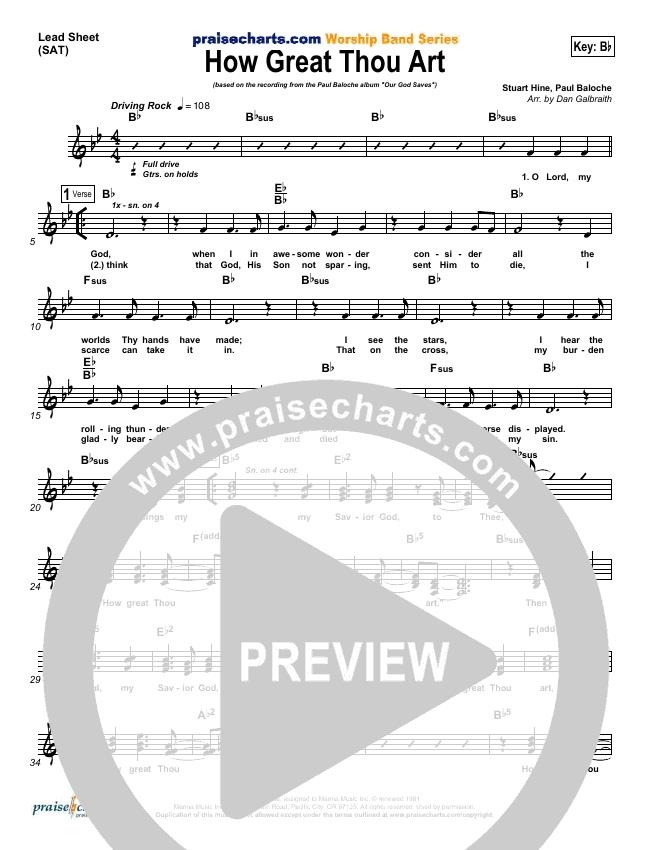 How Great Thou Art Lead & Piano/Vocal (Paul Baloche)
