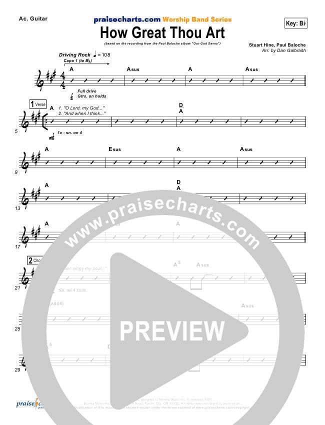 How Great Thou Art Rhythm Chart Paul Baloche Praisecharts