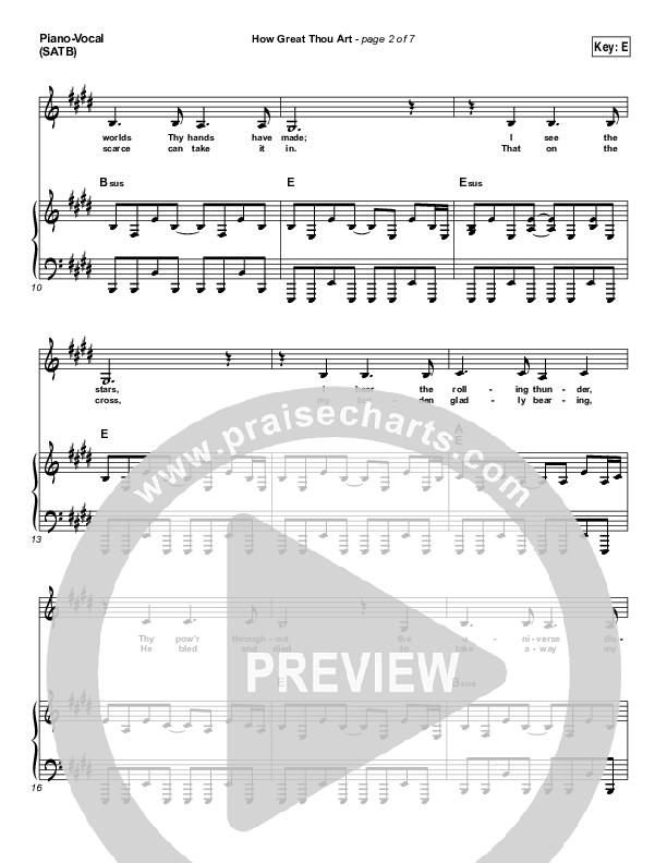 How Great Thou Art Piano/Vocal (SATB) (Paul Baloche)