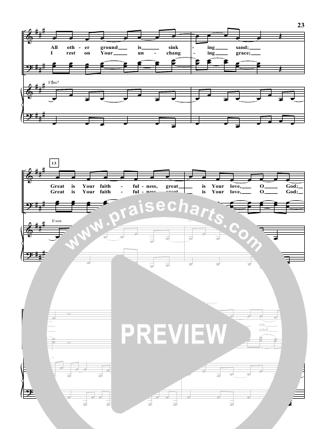 Rock Of Ages (You Will Stand) Piano Sheet (Paul Baloche)