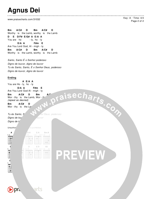 Agnus Dei Chords & Lyrics ()