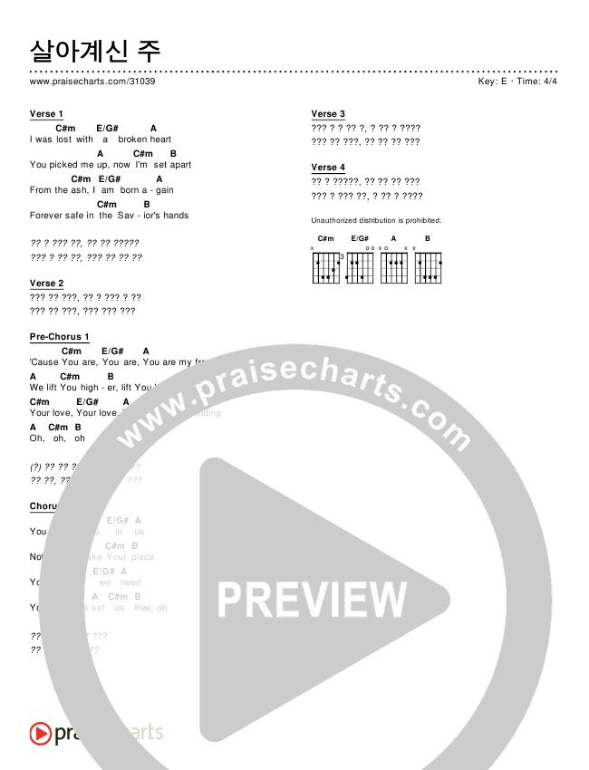 살아계신 주 (Simplified) Chords ()