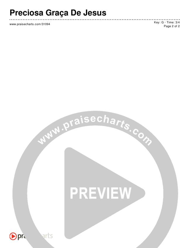 Preciosa Graça De Jesus Chords & Lyrics ()