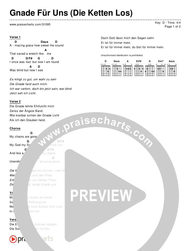 Gnade Für Uns (Die Ketten Los) (Simplified) Chords & Lyrics ()