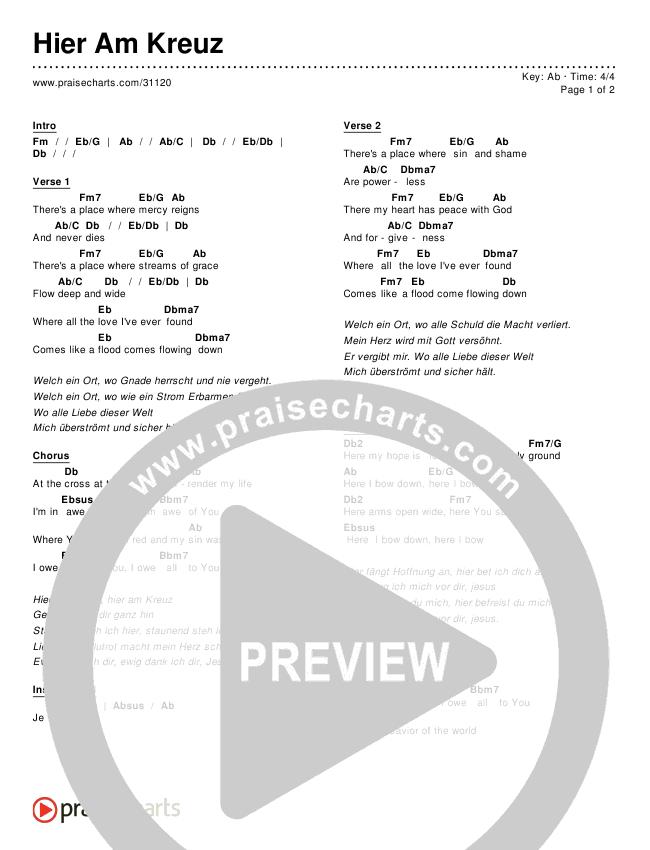 Hier Am Kreuz Chords & Lyrics ()