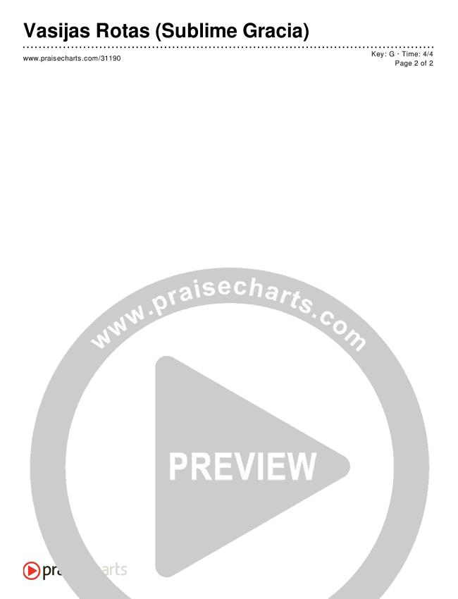 Vasijas Rotas (Sublime Gracia) (Simplified) Chords & Lyrics ()