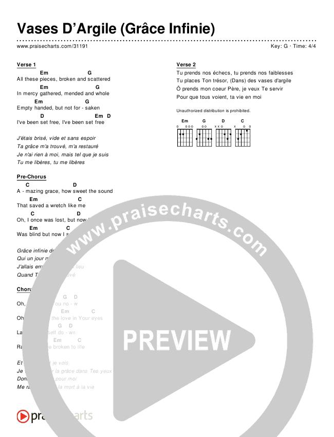 Vases D'Argile (Grâce Infinie) (Broken Vessels) (Simplified) Chord Chart ()