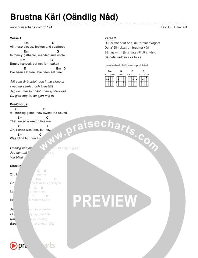 Brustna Kärl (Oändlig Nåd) (Broken Vessels)(Simplified) Chords & Lyrics ()