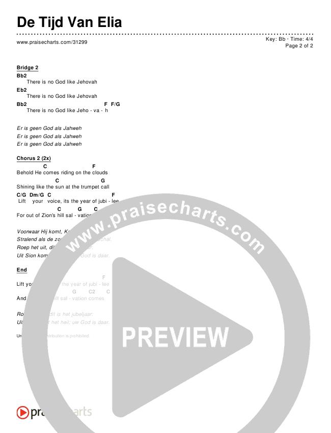 De Tijd Van Elia Chords & Lyrics ()