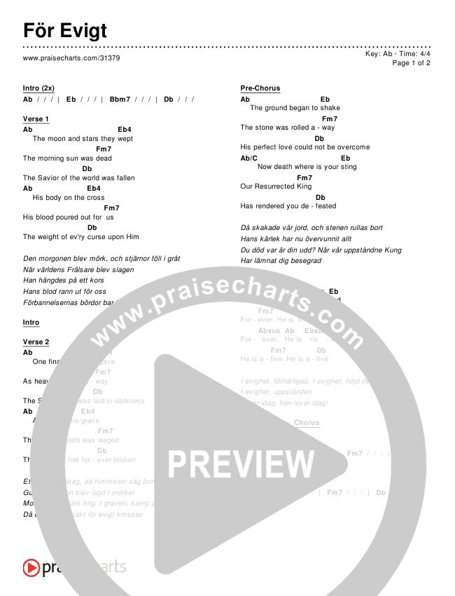 För Evigt Chords & Lyrics ()