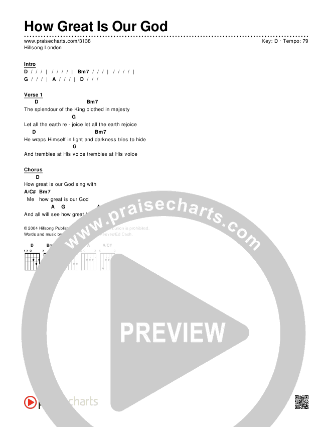 How Great Is Our God Chords & Lyrics (Hillsong London / Hillsong Worship)