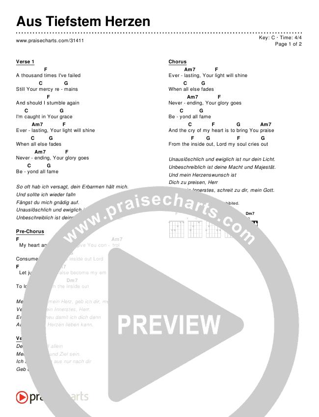 Aus Tiefstem Herzen (Simplified) Chords & Lyrics ()