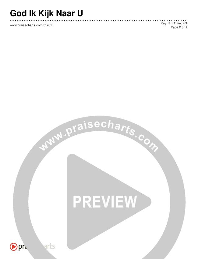 God Ik Kijk Naar U (Simplified) Chords & Lyrics ()