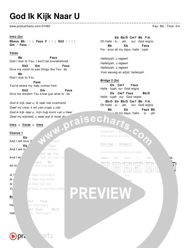 God Ik Kijk Naar U (God I Look To You) Chords & Lyrics ()