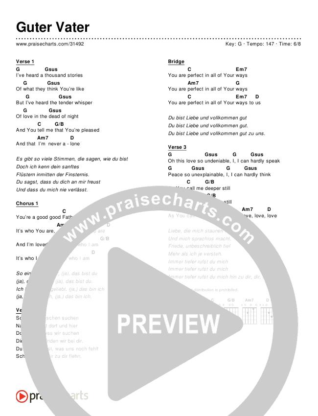 Guter Vater (Simplified) Chords & Lyrics ()