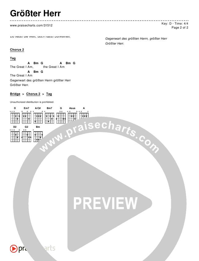 Größter Herr (Great I Am) Chords & Lyrics ()