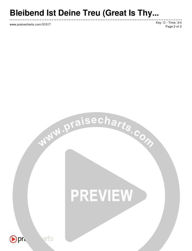 Bleibend Ist Deine Treu (Great Is Thy Faithfulness) (Simplified) Chord Chart ()