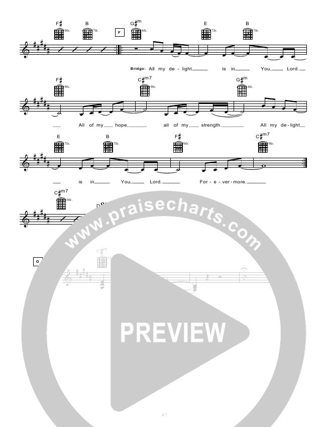 None But Jesus (Instrumental) Lead Sheet (Hillsong UNITED)