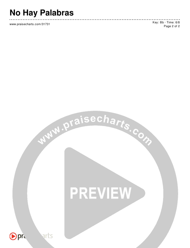 No Hay Palabras (Simplified) Chords & Lyrics ()