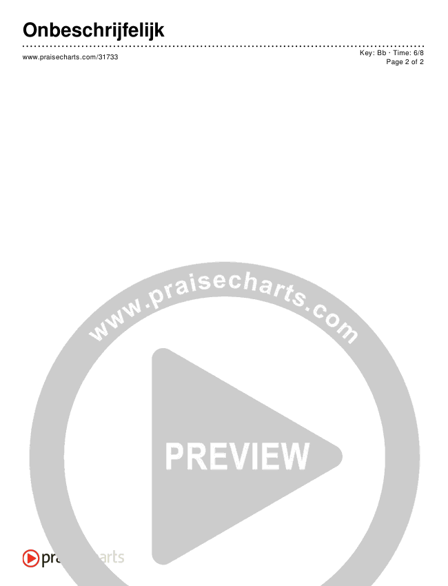 Onbeschrijfelijk (Simplified) Chords & Lyrics ()