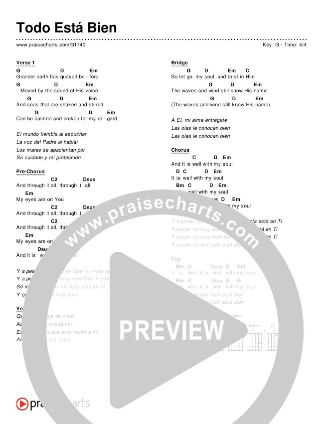 Todo Está Bien (Simplified) Chords & Lyrics ()