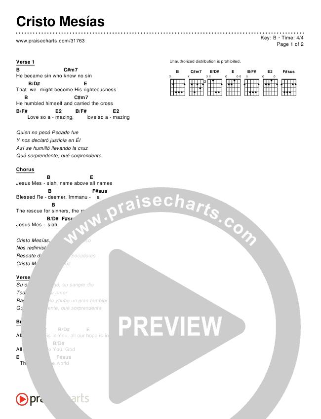 Cristo Mesías (Simplified) Chords & Lyrics ()