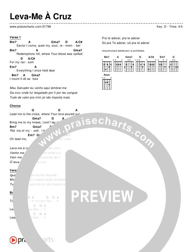 Leva-Me À Cruz (Simplified) Chords ()