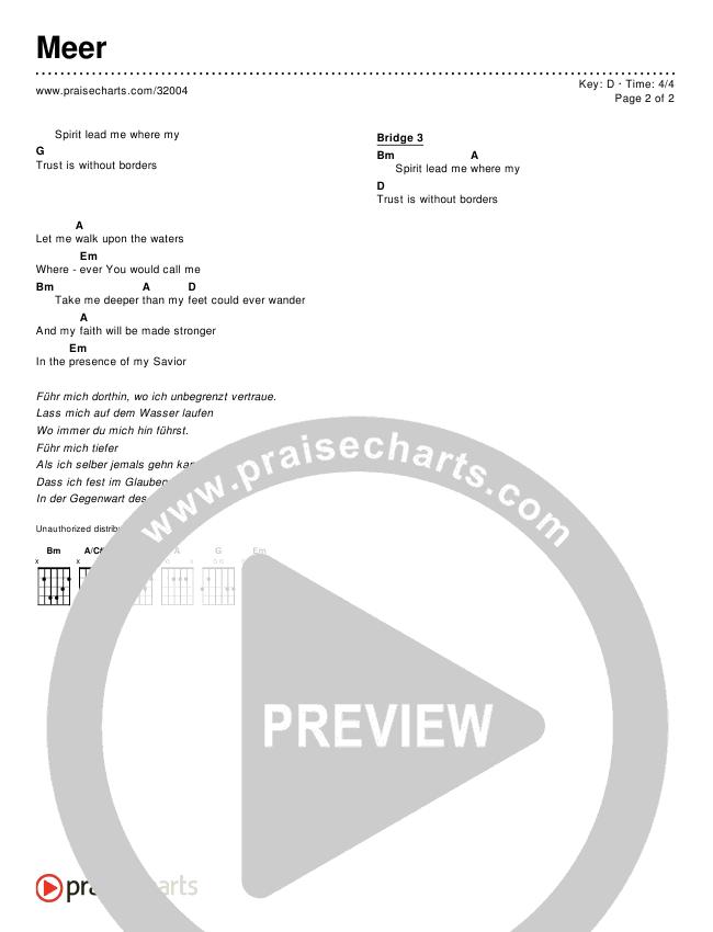Meer (Simplified) Chords & Lyrics ()