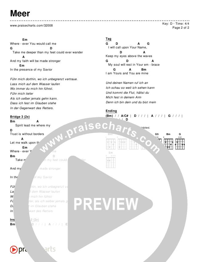 Meer Chords & Lyrics ()