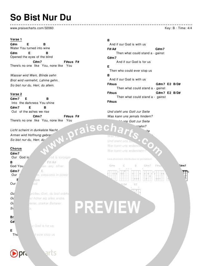 So Bist Nur Du (Simplified) Chords & Lyrics ()
