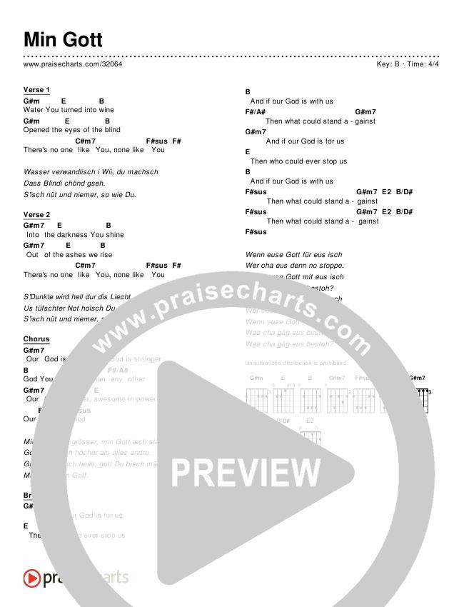 Min Gott (Simplified) Chords & Lyrics ()