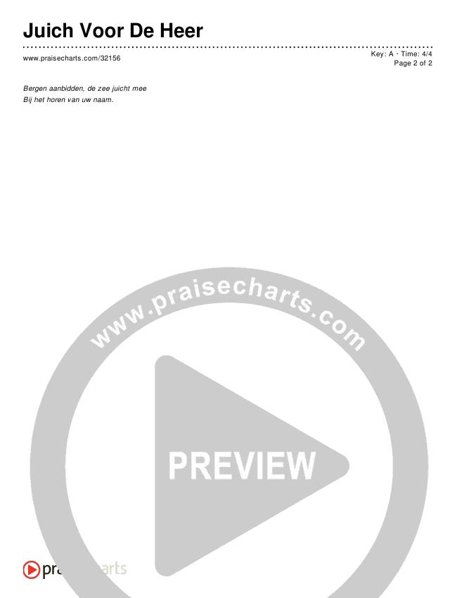 Juich Voor De Heer (Simplified) Chords & Lyrics ()