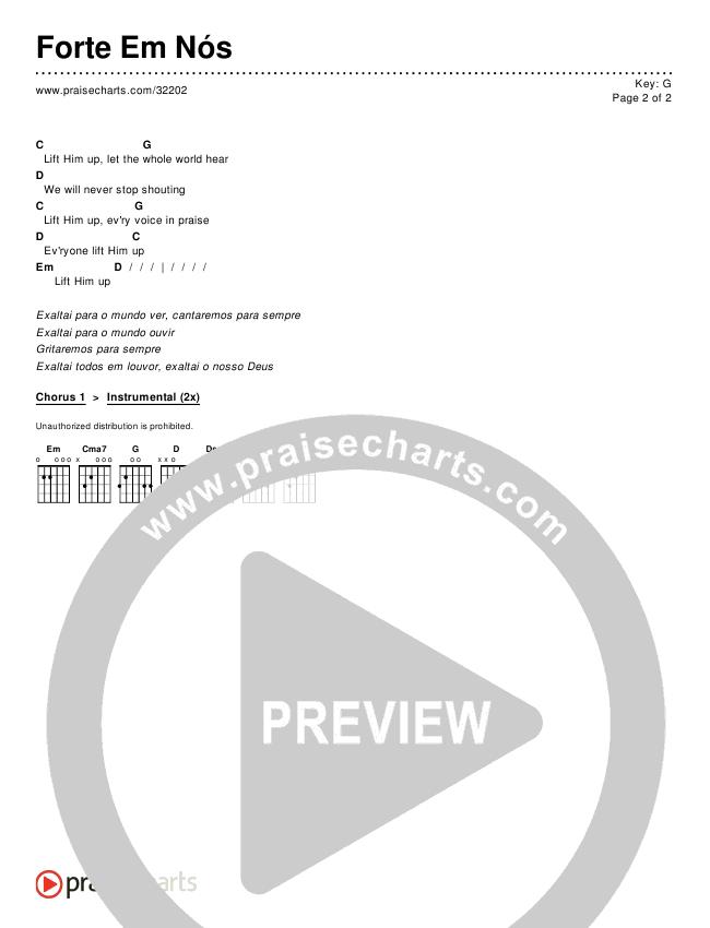 Forte Em Nós Chords & Lyrics ()