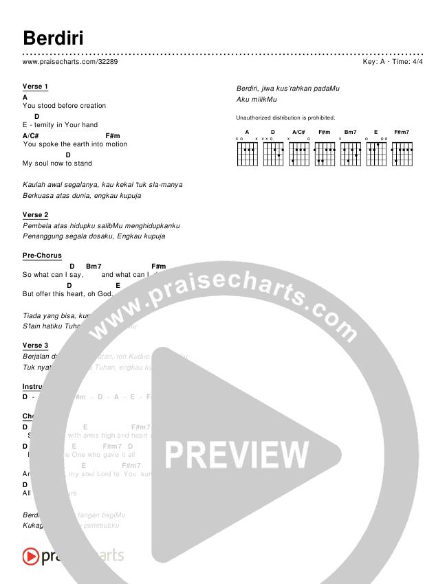 Berdiri (Simplified) Chords & Lyrics ()
