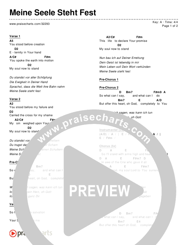 Meine Seele Steht Fest Chords & Lyrics ()