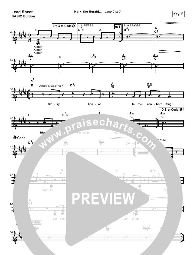Hark The Herald Angels Sing Lead Sheet (Tommy Walker)