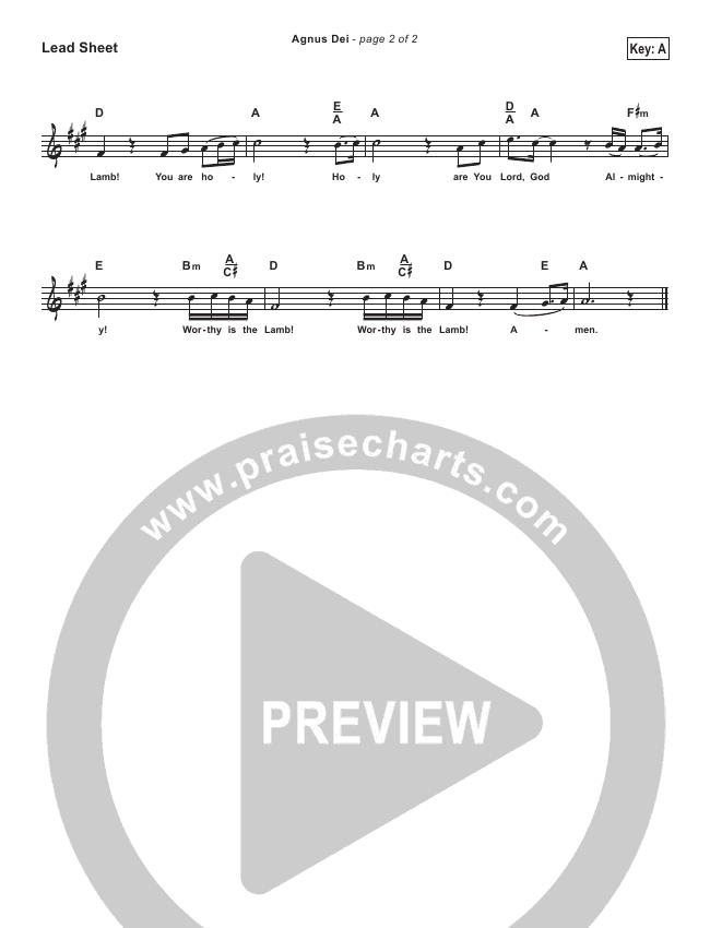 Agnus Dei (Simplified) Lead Sheet (Michael W. Smith)
