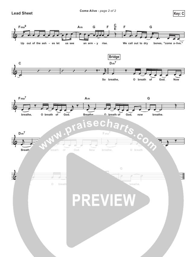 Come Alive (Dry Bones) (Simplified) Lead Sheet (Lauren Daigle)