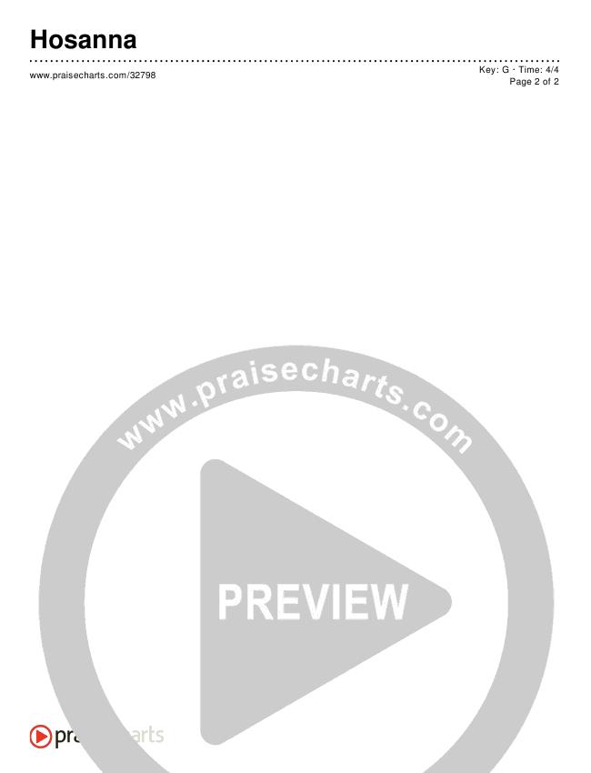 Hosanna (Praise Is Rising) (Dutch) (Simplified) Chord Chart ()