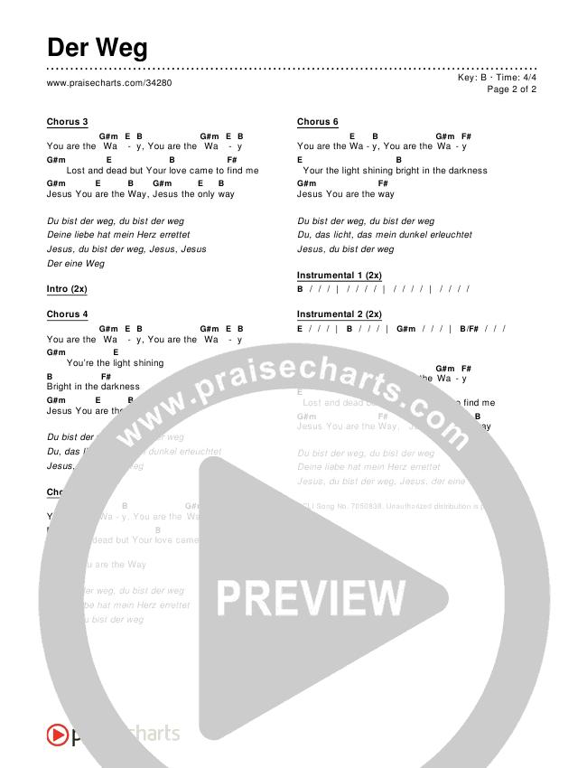 Der Weg (The Way) Chords & Lyrics ()